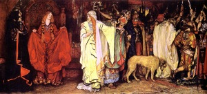 Edward Austin Abbey's King Lear- Cordelia's Farewell, 1898