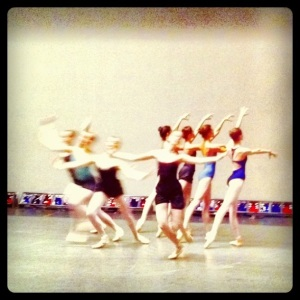 School of American Ballet students rehearsing Serenade, 2012