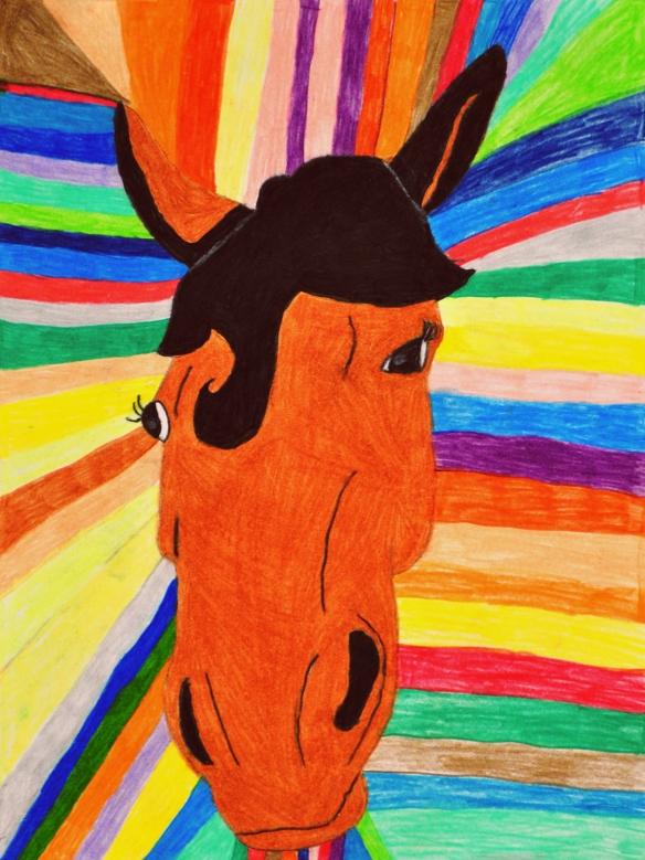 Dorothy Hawkins - Rainbow Horsy